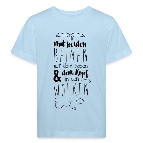 Kopf in den Wolken - Kinder Bio-T-Shirt