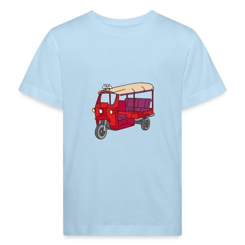 Rote Autorikscha, Tuk-tuk - Kinder Bio-T-Shirt