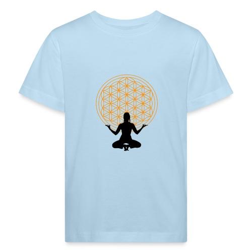 fleur de vie yoga 3 - T-shirt bio Enfant