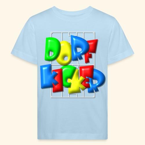 Dorfkicker im Fußballfeld - Balloon-Style - Kinder Bio-T-Shirt