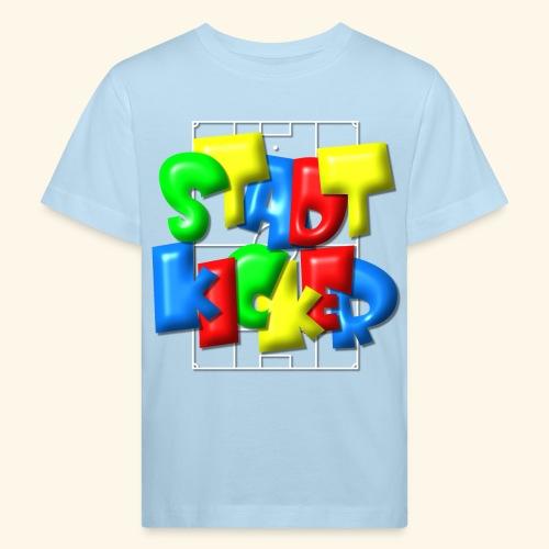 Stadtkicker im Fußballfeld - Balloon-Style - Kinder Bio-T-Shirt