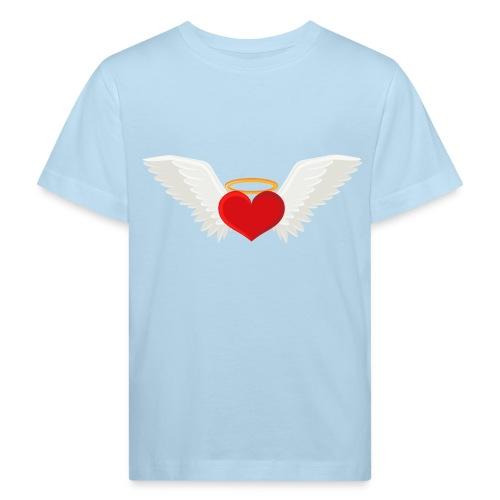 Winged heart - Angel wings - Guardian Angel - Kids' Organic T-Shirt