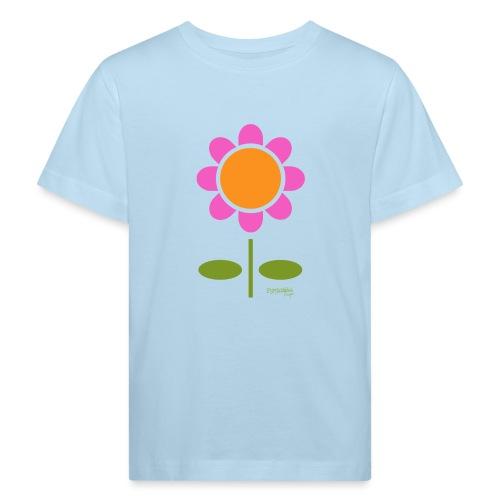 Retro flower - Lasten luonnonmukainen t-paita