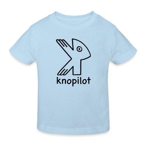 K-Vogel schwarz Knopilot - Kinder Bio-T-Shirt