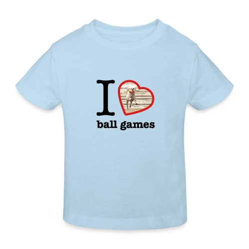 I love ball games Dog playing ball retrieving ball - Kids' Organic T-Shirt