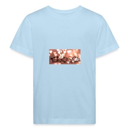 Glückliche Familie - Kinder Bio-T-Shirt
