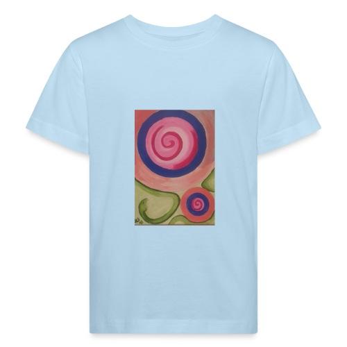 spirale con serpente - Maglietta ecologica per bambini