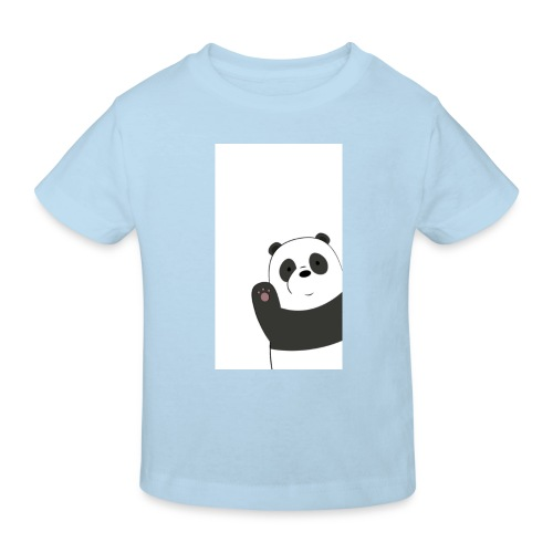 We bare bears panda design - Kinderen Bio-T-shirt