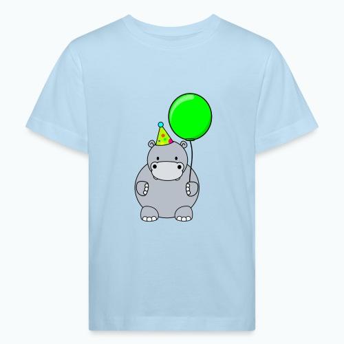 Henri Hippo Party - Appelsin - Ekologisk T-shirt barn