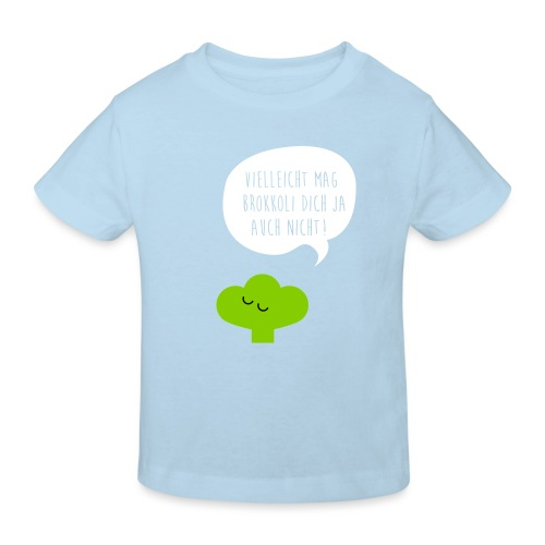 Brokkoli mag dich nicht dreifarbig Plotdruck - Kinder Bio-T-Shirt