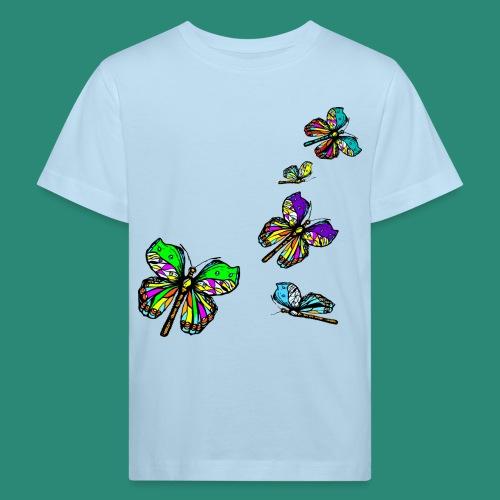 bunte Schmetterlinge - Kinder Bio-T-Shirt