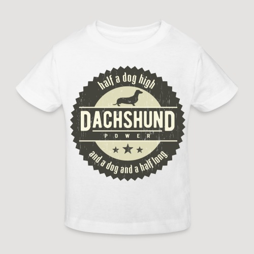 Dachshund Power - Kinderen Bio-T-shirt