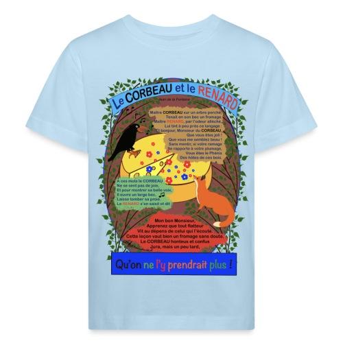 Le Corbeau et le Renard (Jean de la Fontaine) - Kinder Bio-T-Shirt