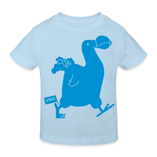 Hellgrau meliert Schwarz Seekuh - Riesenseekuh - Kinder Bio-T-Shirt