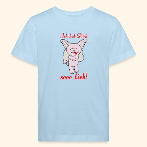 Zwergschlammelfen - Ich hab Dich so lieb! - Kinder Bio-T-Shirt