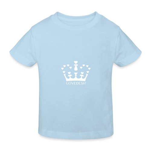 White Lovedesh Crown, Ethical Luxury - With Heart - Kids' Organic T-Shirt