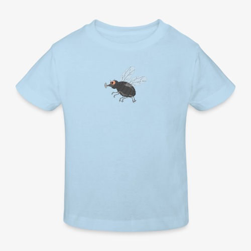 Design met vliegende vlieg - Kinderen Bio-T-shirt