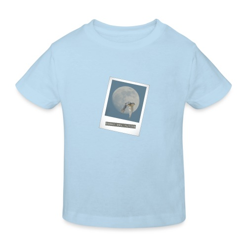 Owl Magical Polaroid Flying Full Moon - Kids' Organic T-Shirt