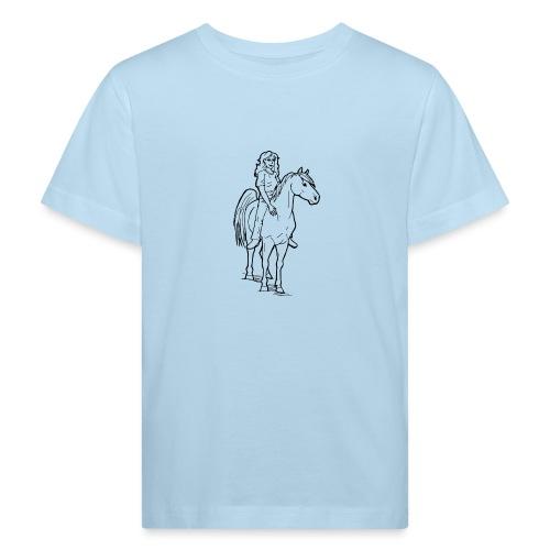 freie Reiterin - Kinder Bio-T-Shirt