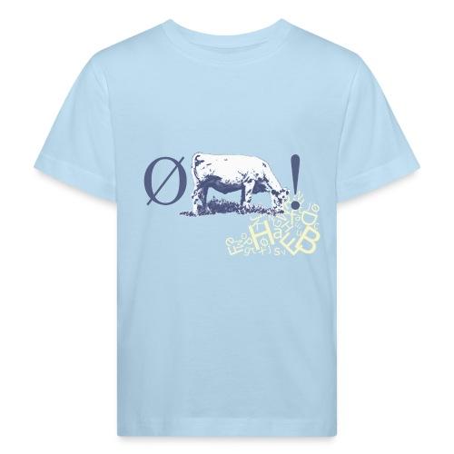bogstavbunke gul - Kids' Organic T-Shirt
