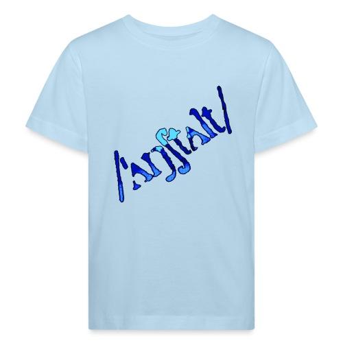 /'angstalt/ logo gerastert (blau/schwarz) - Kinder Bio-T-Shirt