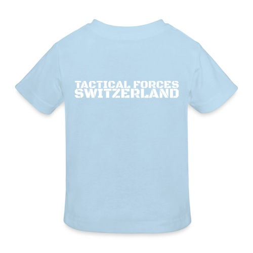 Tactical Forces Switzerland Stencil white back - T-shirt bio Enfant