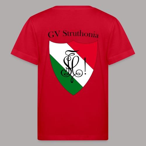 Wappen Struthonia beschriftet - Kinder Bio-T-Shirt