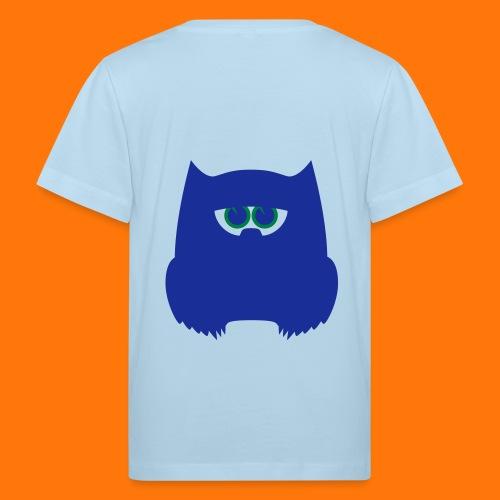 grüne Eule - Kinder Bio-T-Shirt