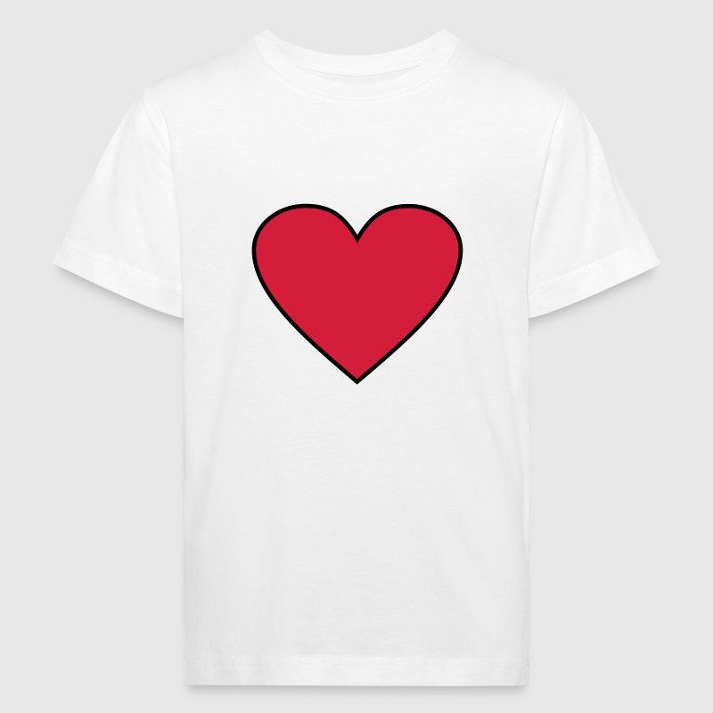 Heart - Hjerte - Økologisk T-skjorte for barn