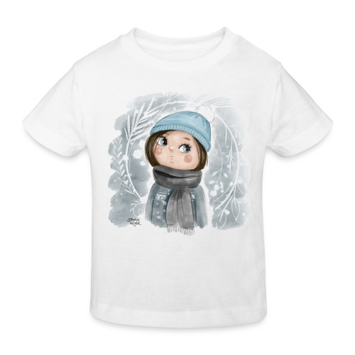 Wintermädchen - Kinder Bio-T-Shirt