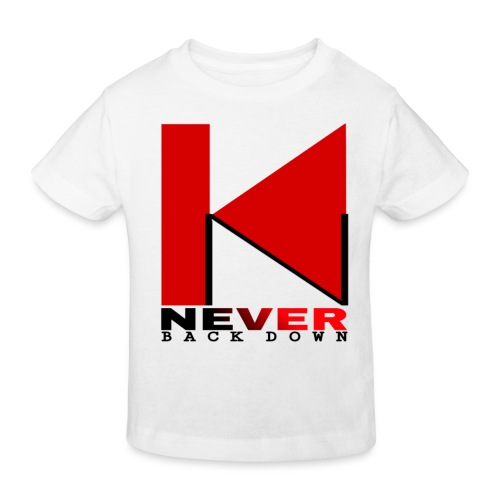 NEVER BACK DOWN - T-shirt bio Enfant