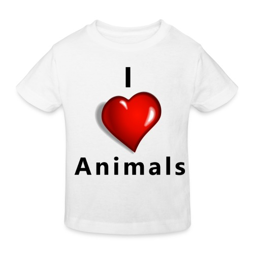 i love animals - Kinderen Bio-T-shirt