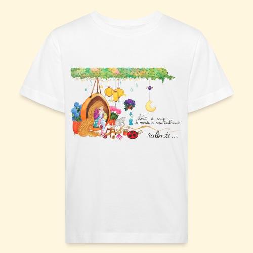 Tout à coup, le temps a considérablement ralenti - T-shirt bio Enfant