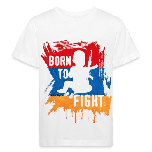 babay born to fight - Kinder Bio-T-Shirt