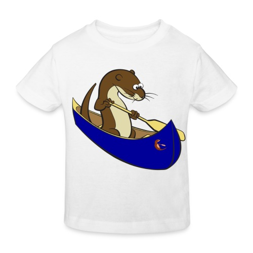 bluecanoewithsticker - Kids' Organic T-Shirt