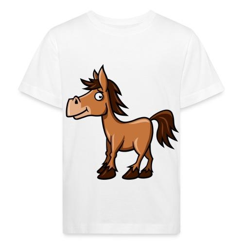 vl069c_pferdchen_4c - Kinder Bio-T-Shirt