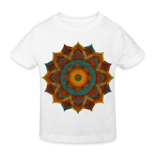 HANDPAN hang drum MANDALA teal red brown - Kinder Bio-T-Shirt