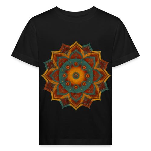 HANDPAN hang drum MANDALA teal red brown - Kinder Bio-T-Shirt