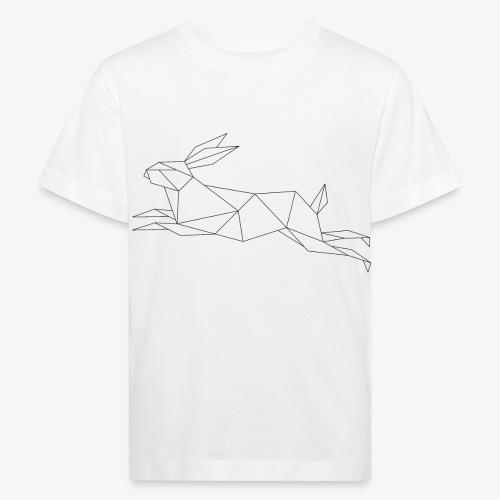 Hase geometrie, Tier geometrisch - Kinder Bio-T-Shirt