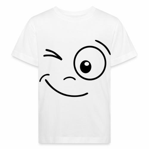 Gesicht zwinkern - Kinder Bio-T-Shirt