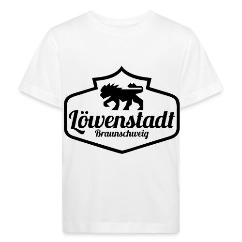 Löwenstadt Design 1 schwarz - Kinder Bio-T-Shirt