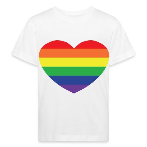 Rainbow heart - Kids' Organic T-Shirt