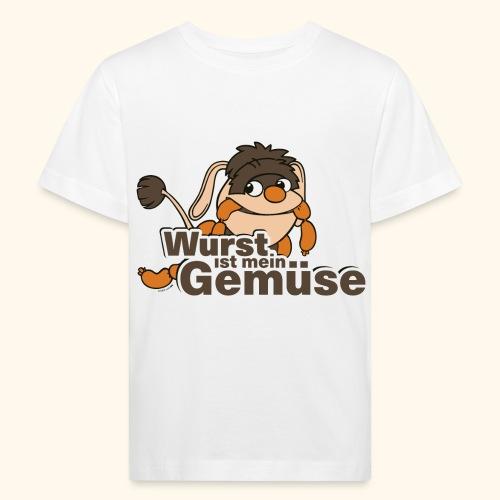 Moppi Wurst ist mein Gemüse - Kinder Bio-T-Shirt