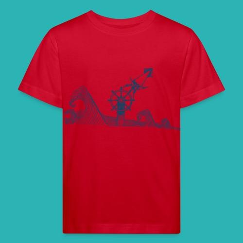 Carta_timone_blu-png - Maglietta ecologica per bambini