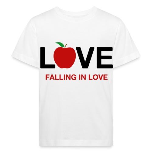 Falling in Love - Black - Kids' Organic T-Shirt