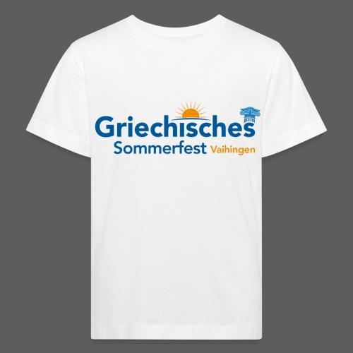 Griechisches Sommerfest Vaihingen - Kinder Bio-T-Shirt
