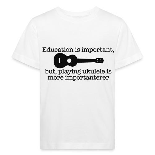 Important Ukulele - Kids' Organic T-Shirt