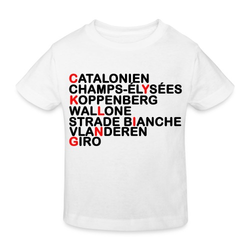 CYKLING - Organic børne shirt
