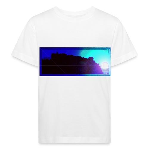 Silhouette of Edinburgh Castle - Kids' Organic T-Shirt