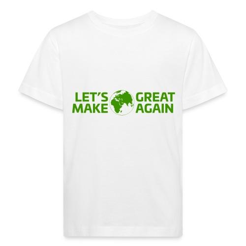 LetsMakeEarthGreatAgain - Ekologisk T-shirt barn